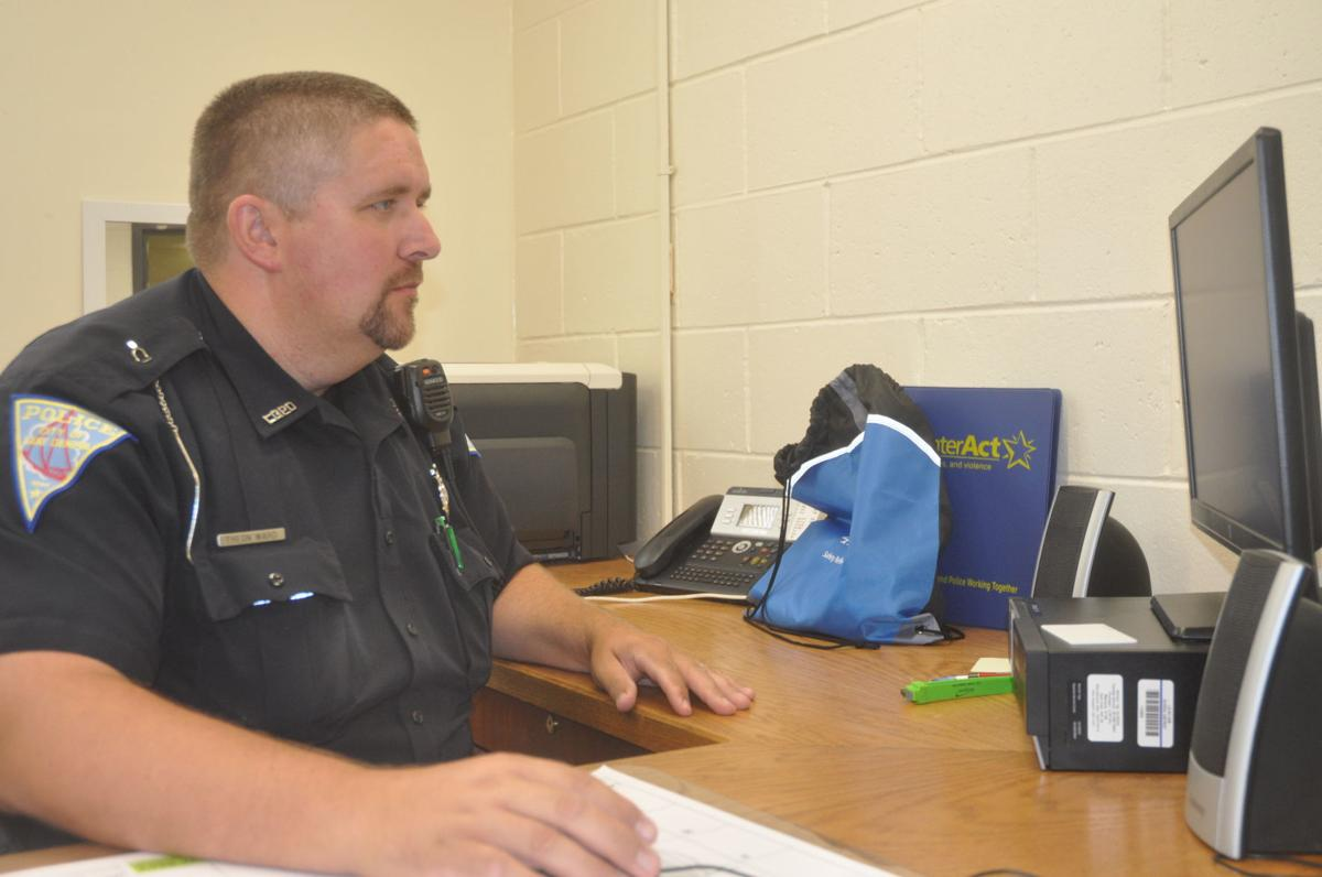 Officer Theon Ward recently was named the new school resource officer at Badger High School
