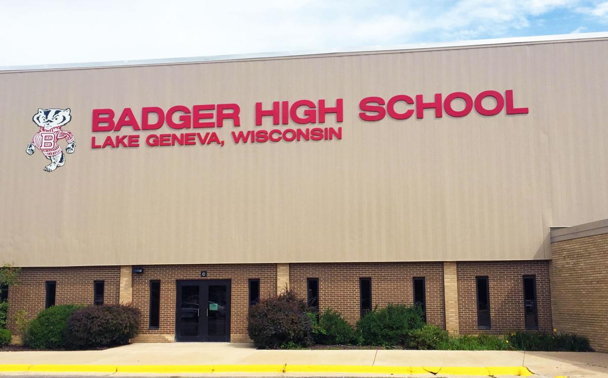 Badger High School building mug