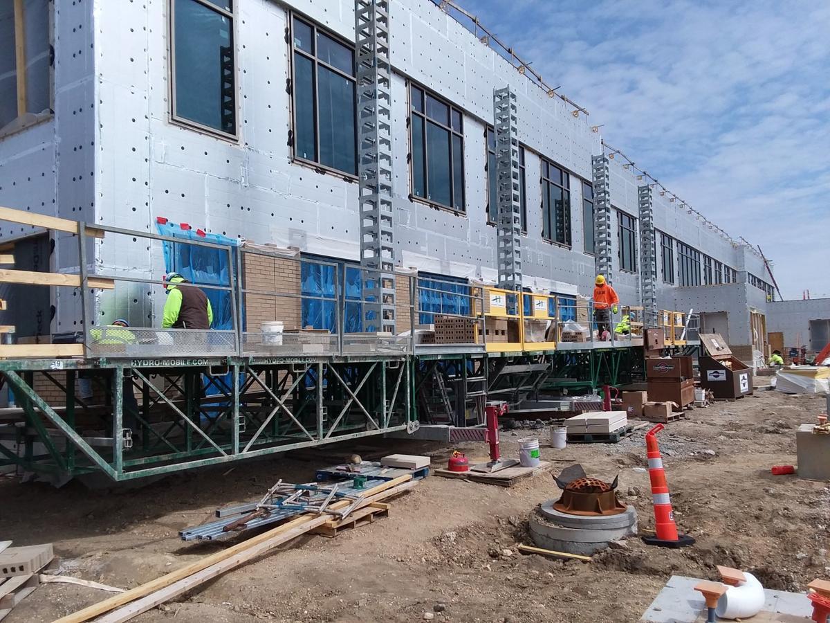 County health center construction exterior