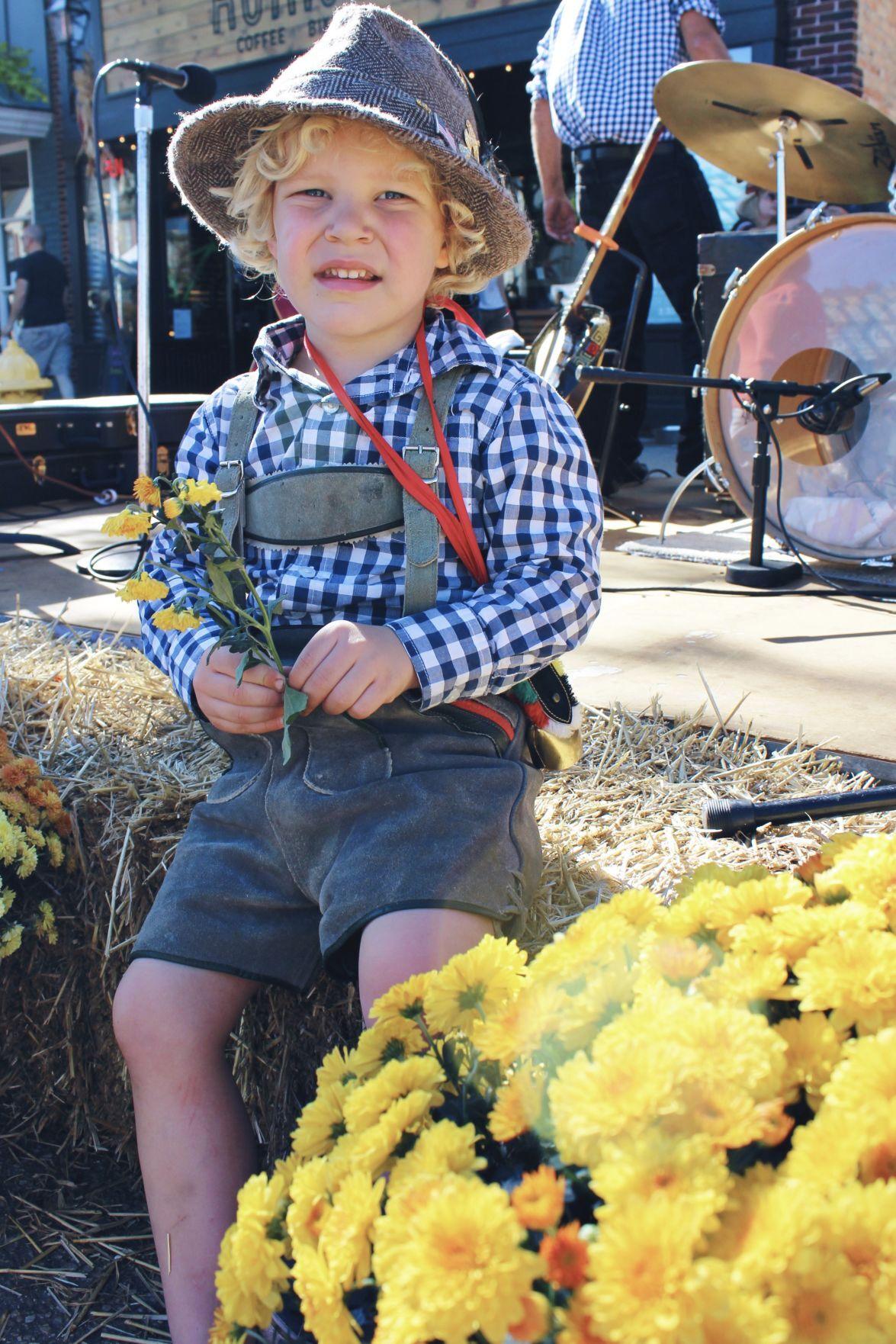 Lederhosen boy at Oktoberfest