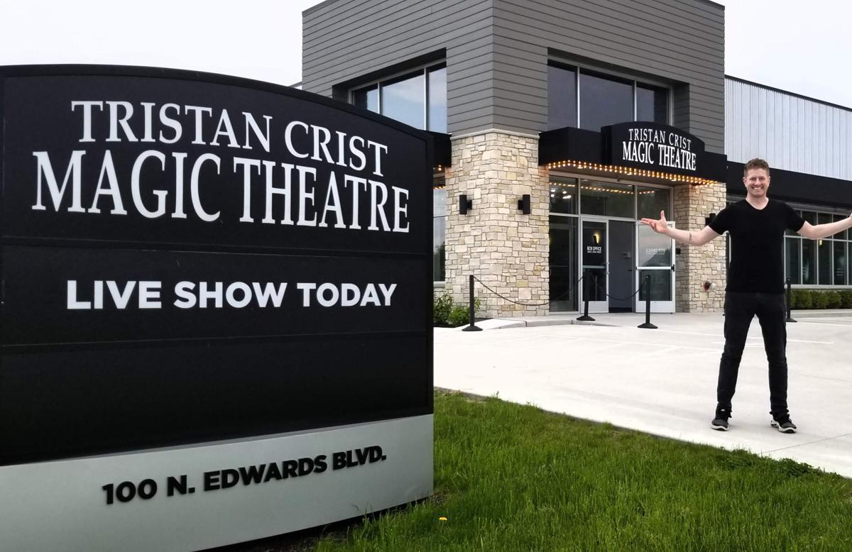 Tristan Crist at front entrance