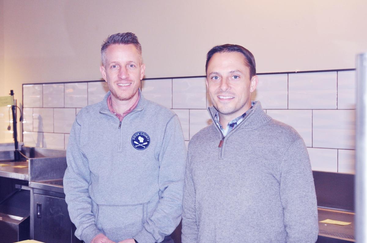 Erik Barber, president of Inspiration Ministries, and Merik Fell, director of development, are pleased