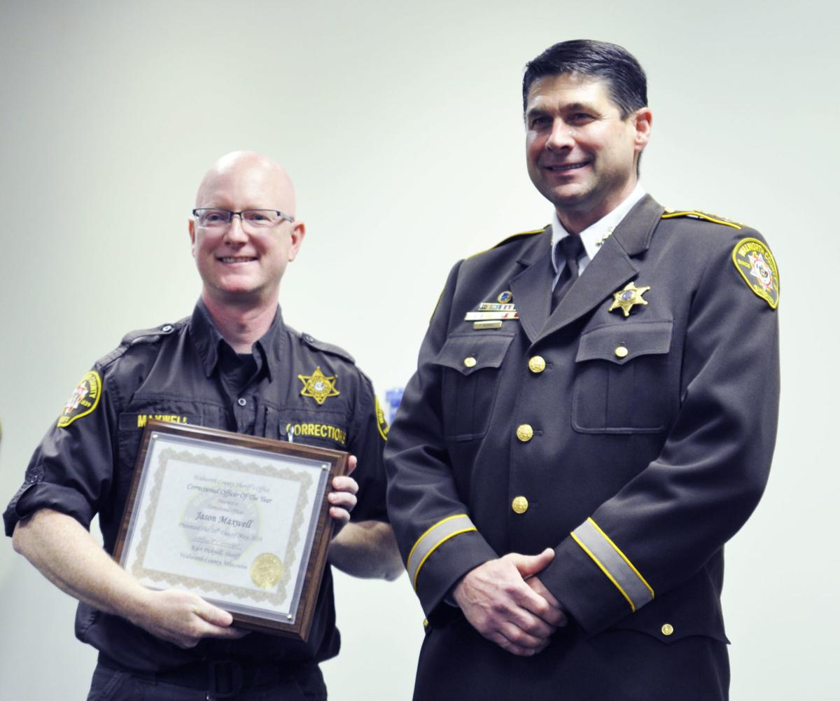 Correctional officer Jason Maxwell with Sheriff Kurt Picknell