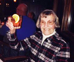 Lois Gilfoy with her Brandy Old-Fashioned