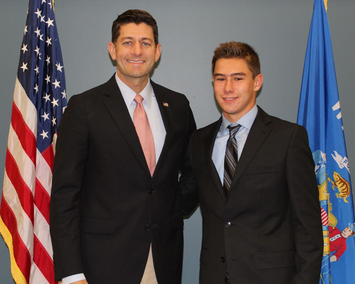 Christian Karabas with Paul Ryan