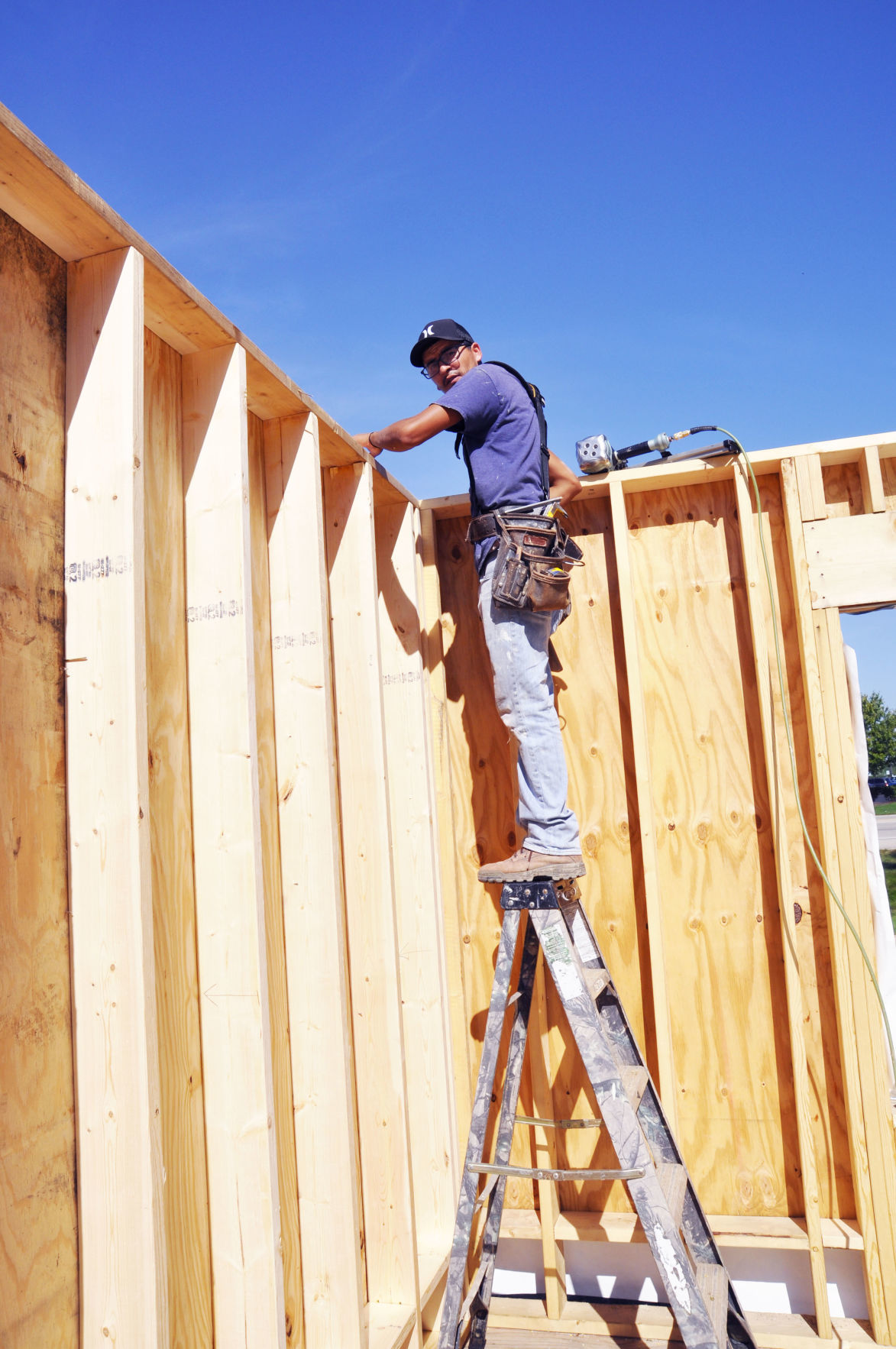 Ricardo Puentes construction worker Belfry Music Theater