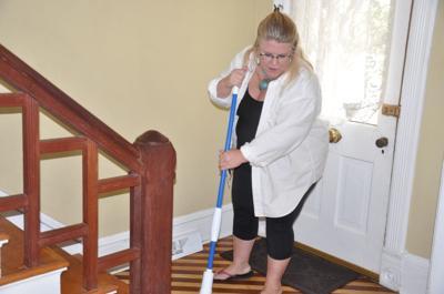 Short-term rental property owner Cassandra Kordecki prepares her home