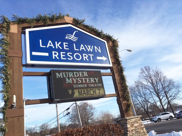 Lake Lawn Resort entrance sign
