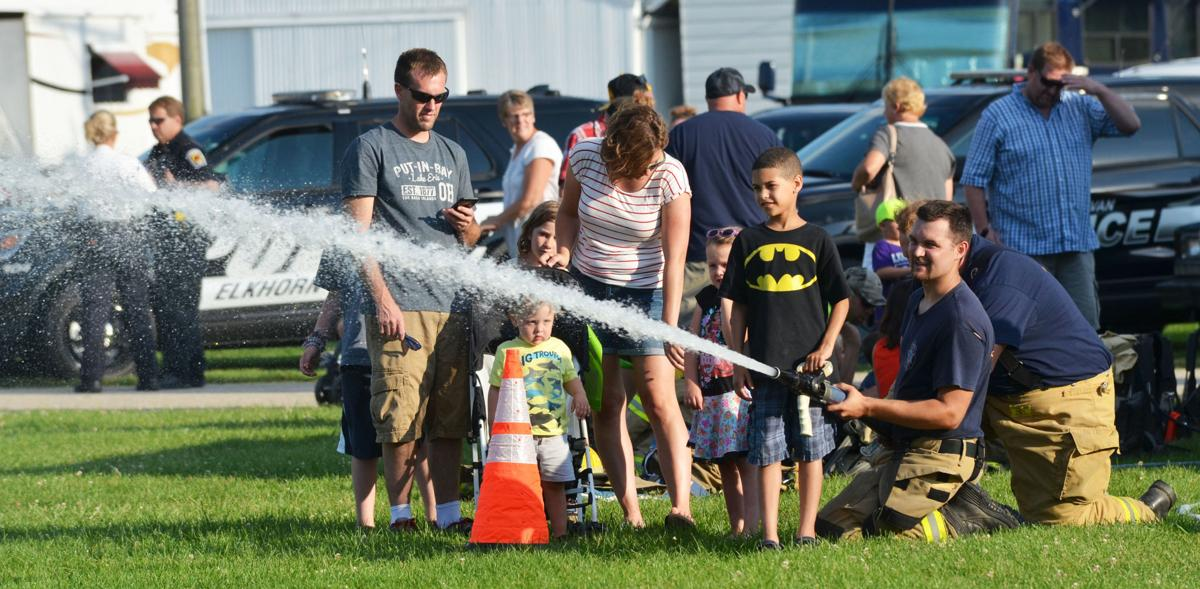 National Night Out - Fire hose