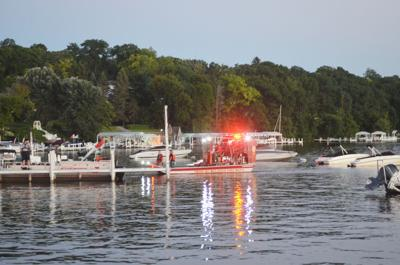 Search boat in possible drowning