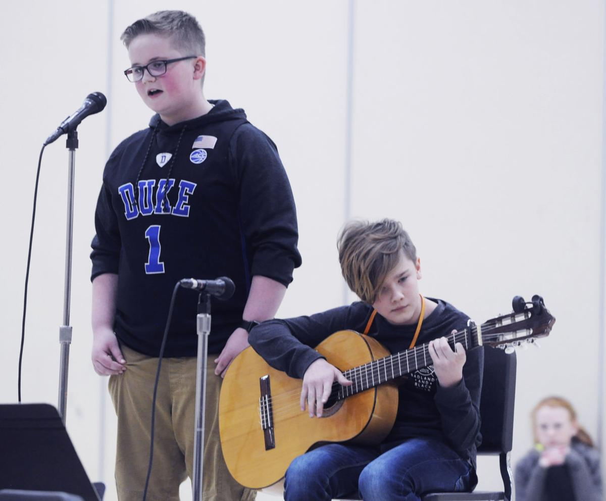 Myles Derickson and Jackson Buchanan Brookwood talent show