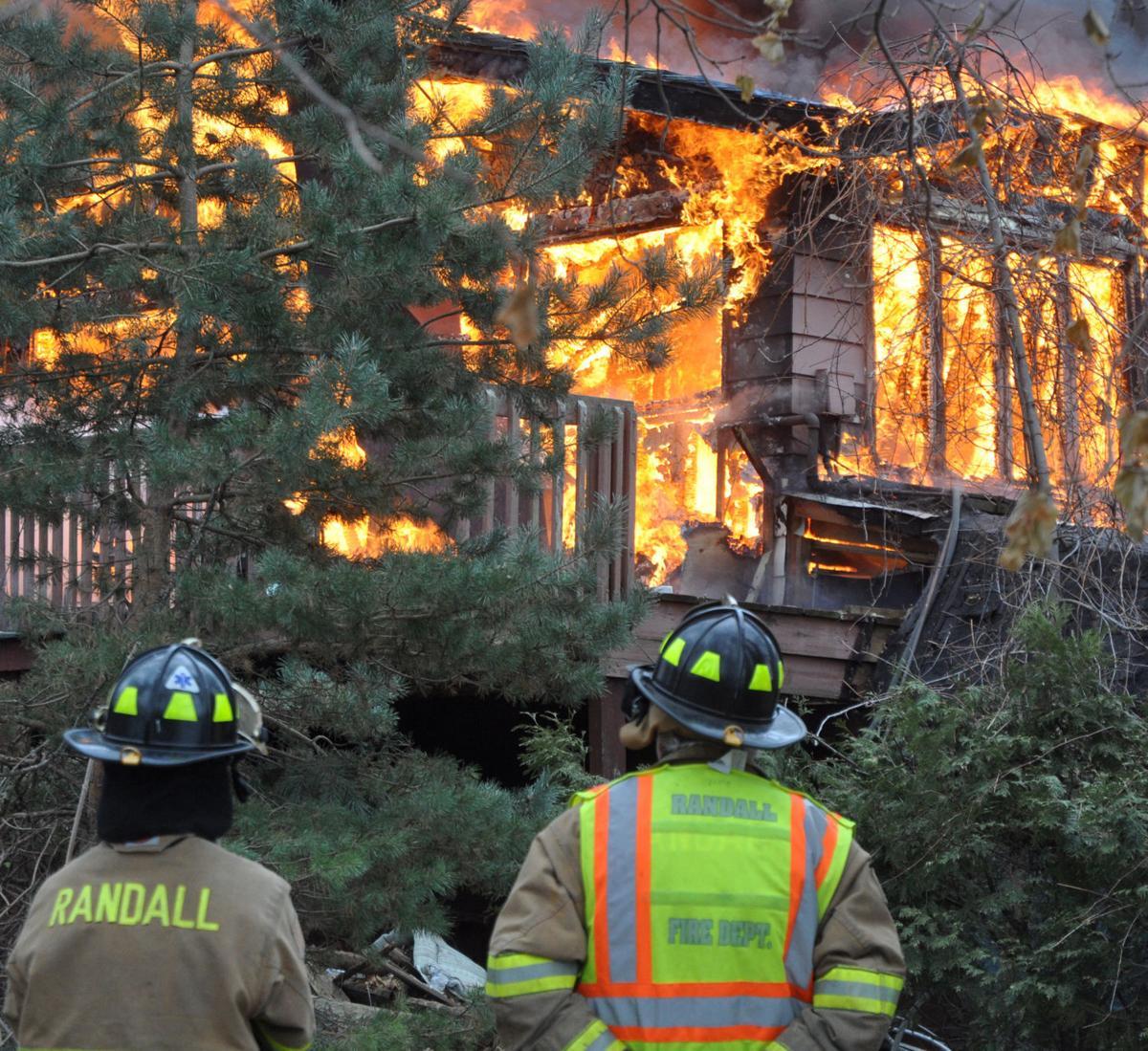 Controlled burn at Lake Benedict resort