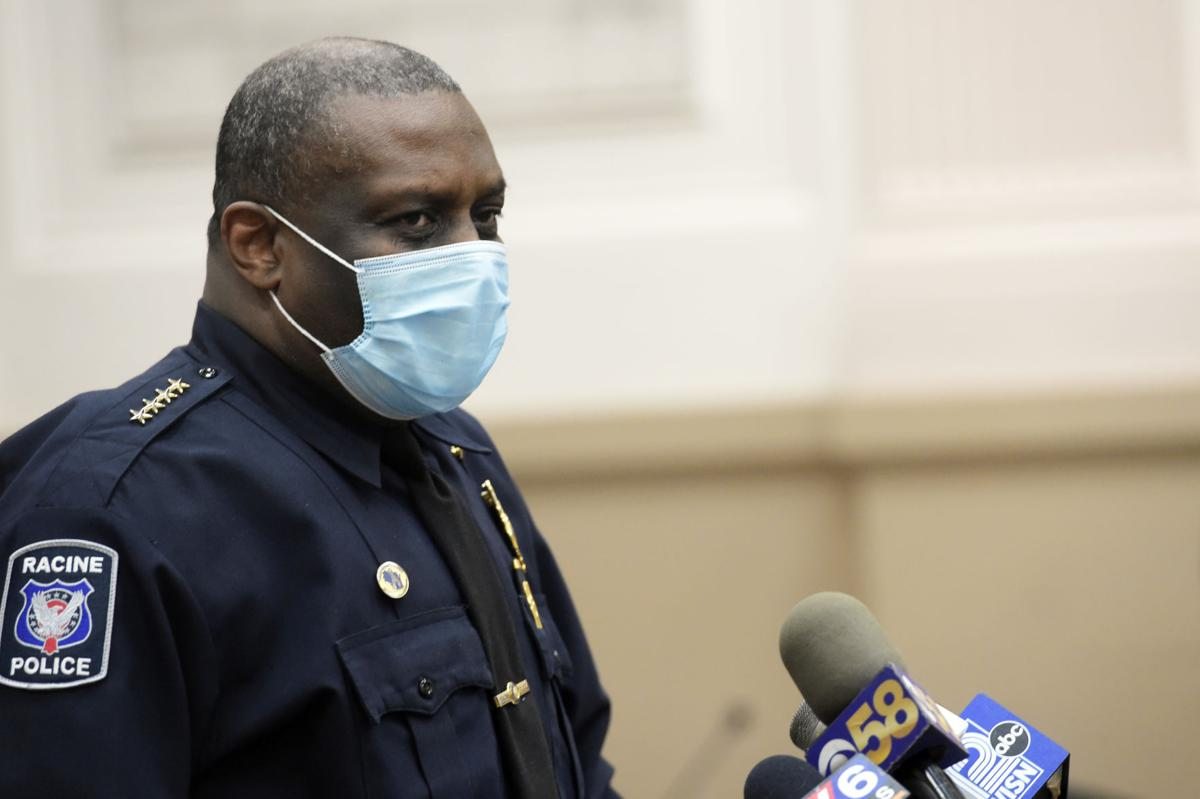 Police Chief Art Howell in a mask