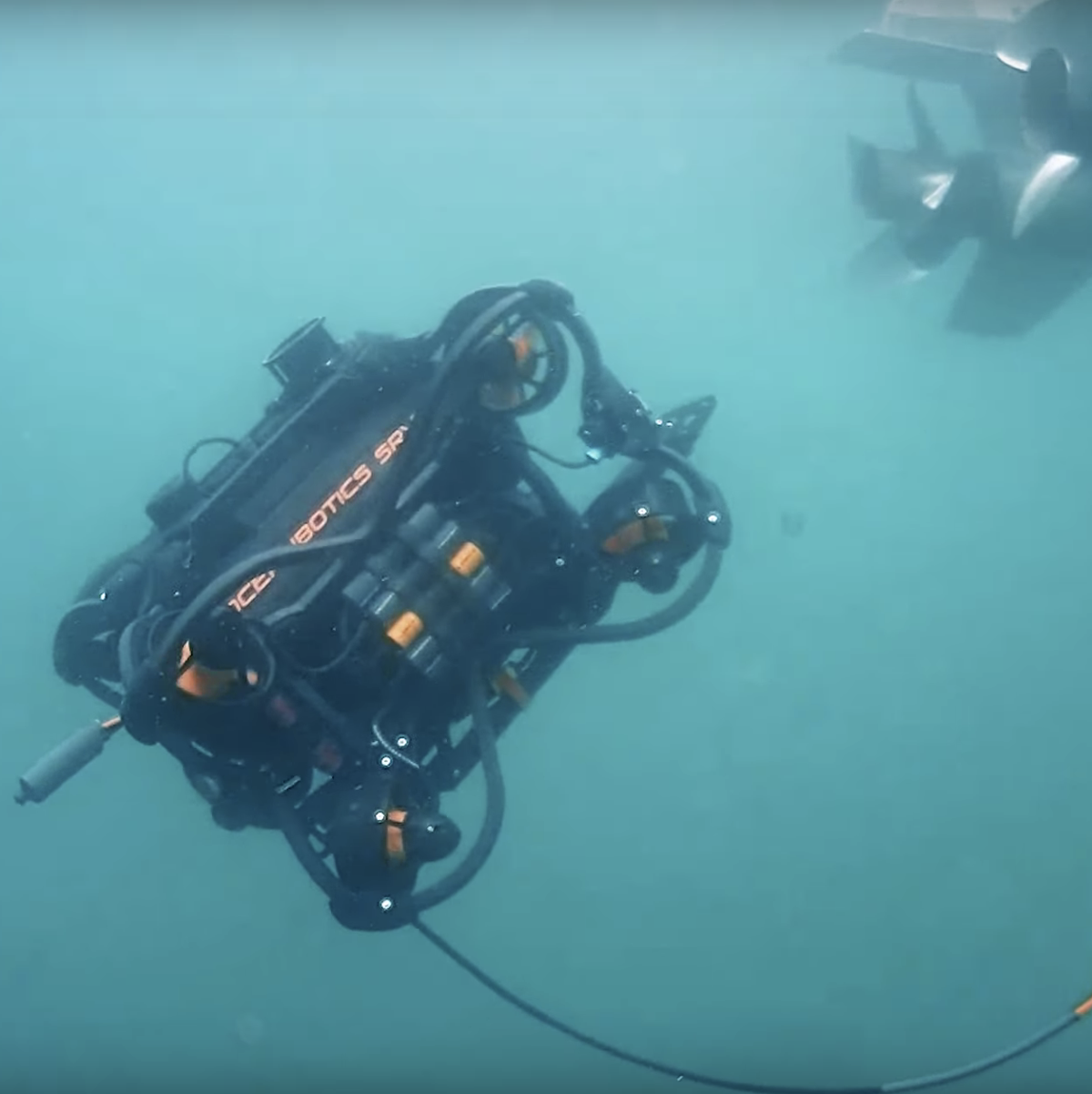 ROV beginning underwater search