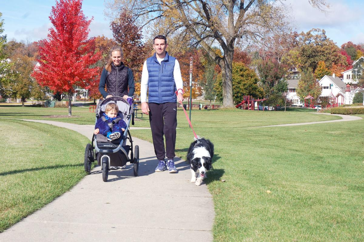 Phil and Amanda Seeber of Fontana with their dog