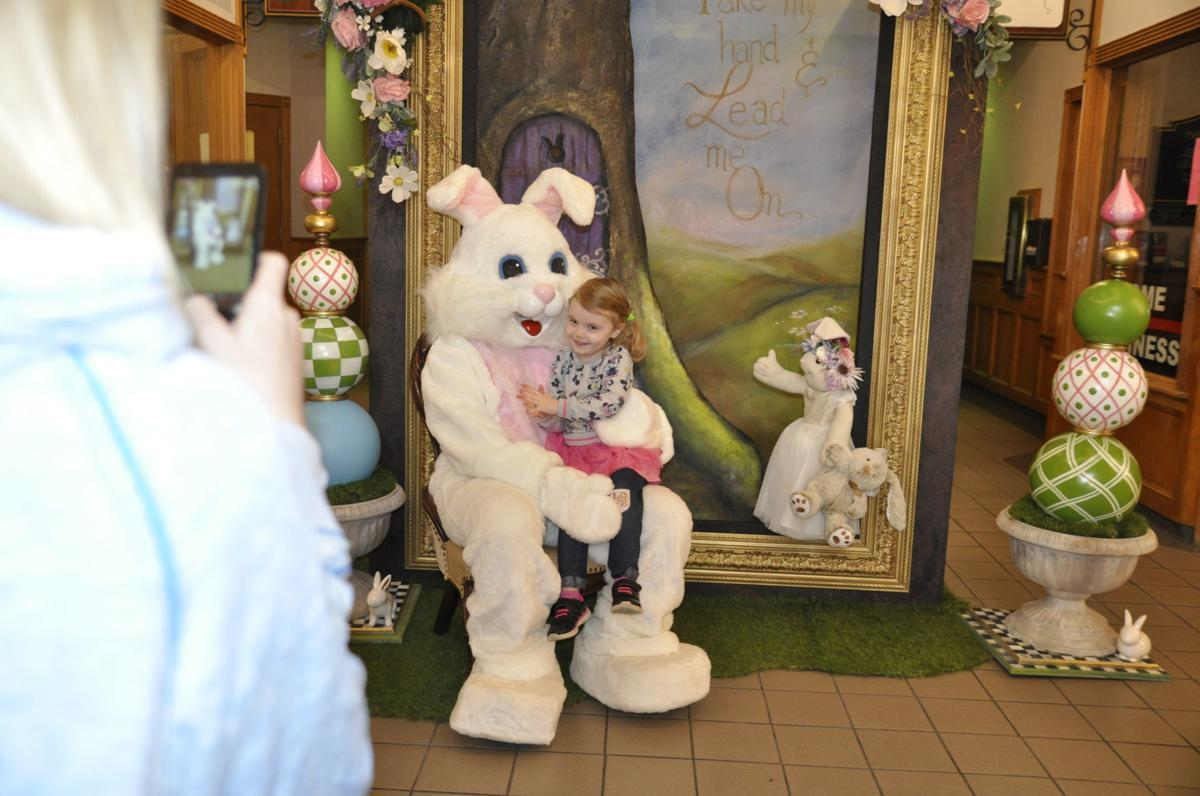Easter Bunny with Schrack family of Lake Geneva