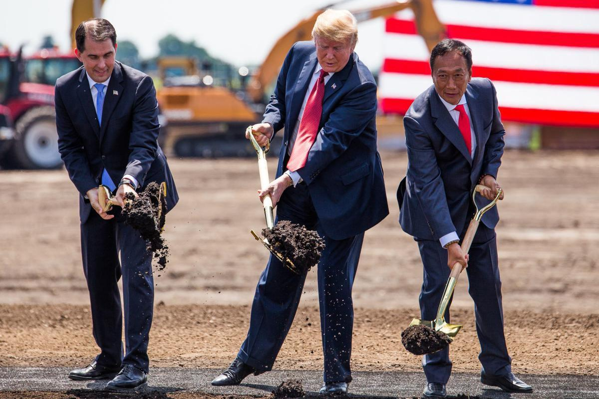 Foxconn groundbreaking with Trump