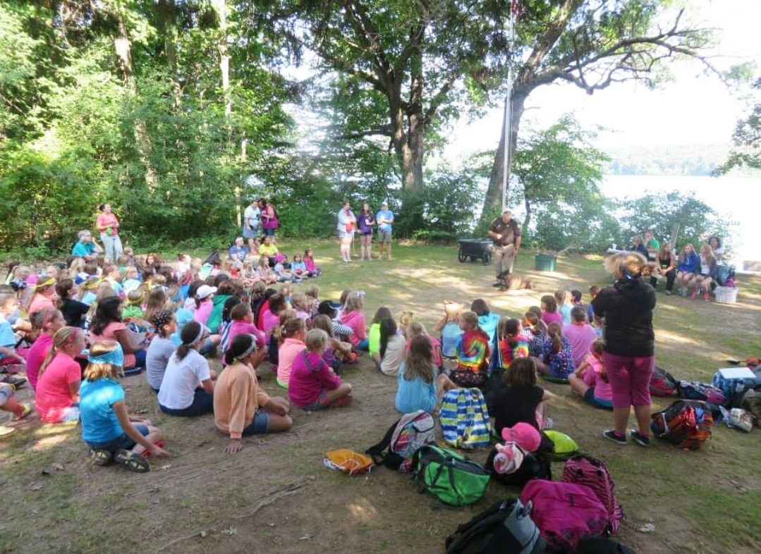 Girl Scouts gathered at Camp Pottawatomie Hills in Walworth County
