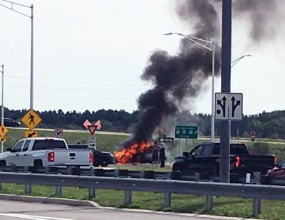 SUV fire
