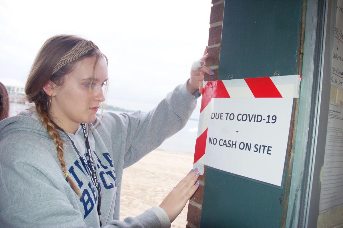 Riviera beach attendant Jeni Johnson during coronavirus