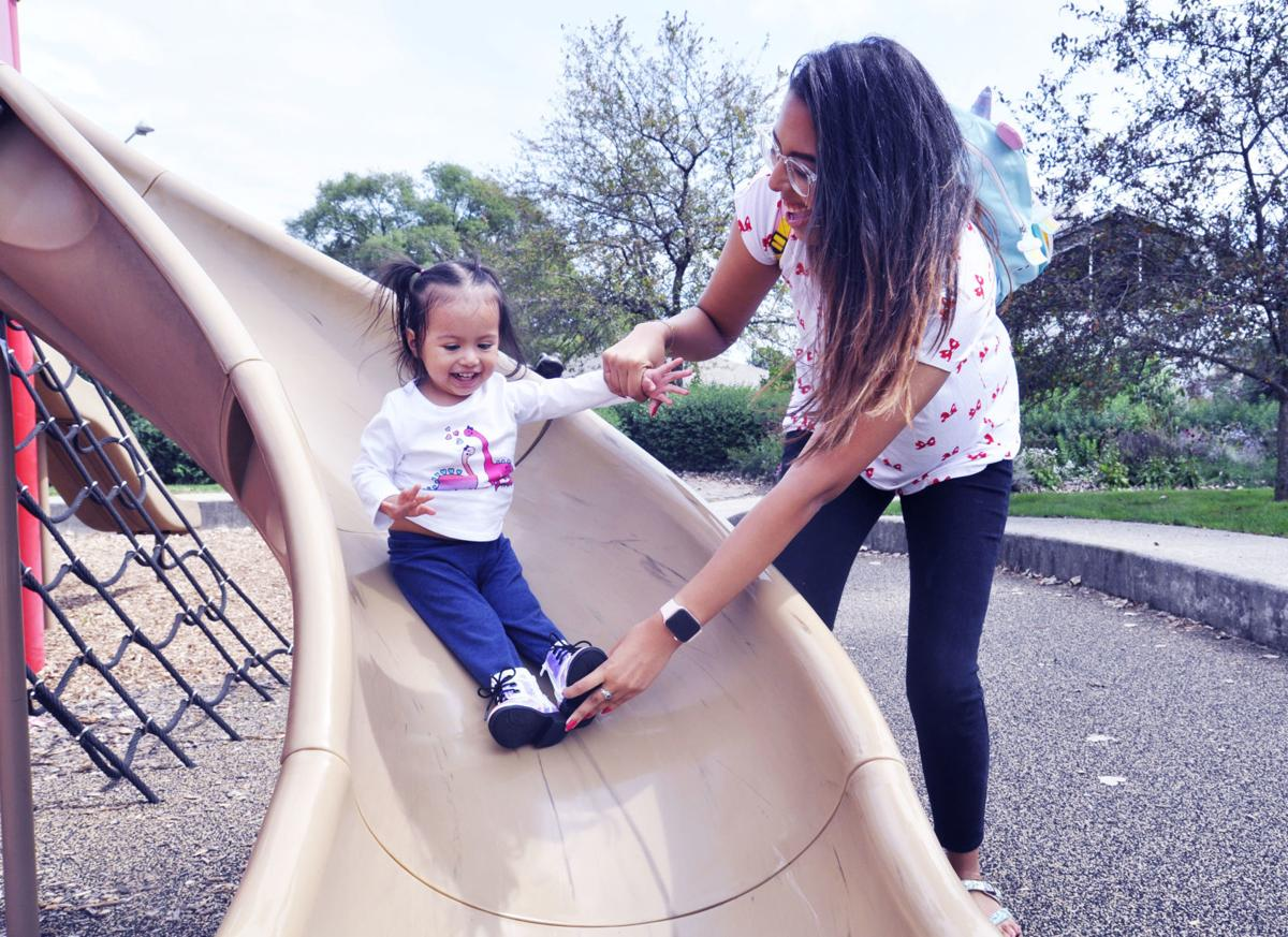 Leslie Cabrerea and daughter at Fontana park