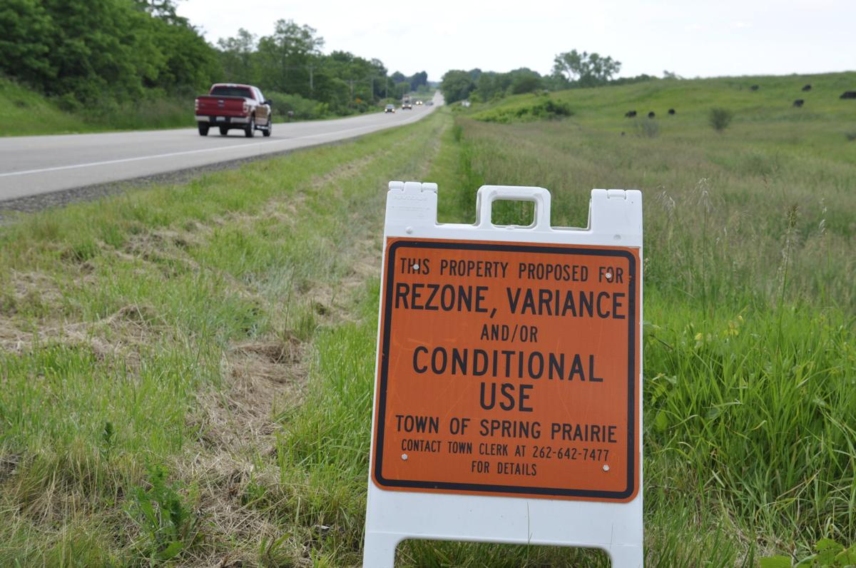 Gravel pit site in Spring Prairie