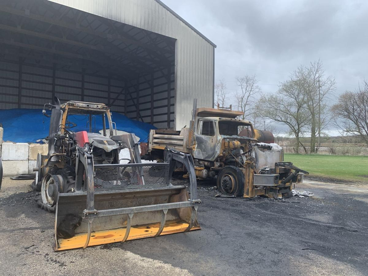 Tractor and dump truck a total loss