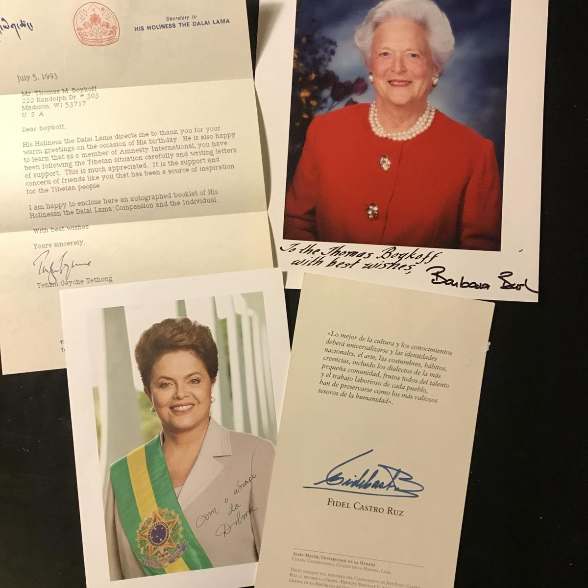 Letters from dignitaries