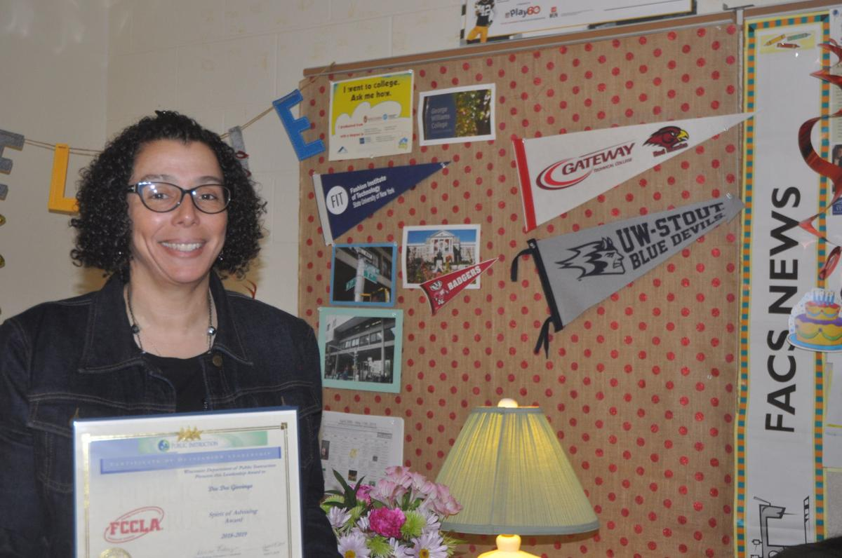 Deanna Giovingo, Badger High School instructor, recently received state awards
