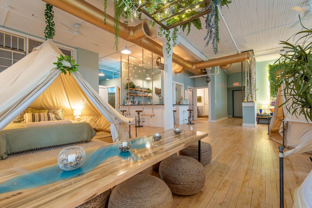 """A """"glamping"""" vacation rental property in downtown Lake Geneva features five indoor tents"""