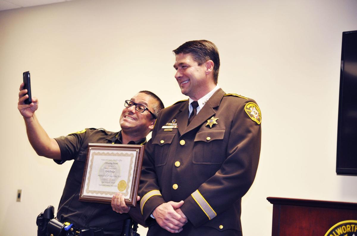 Sheriff deputy Kirk Dodge with sheriff Kurt Picknell