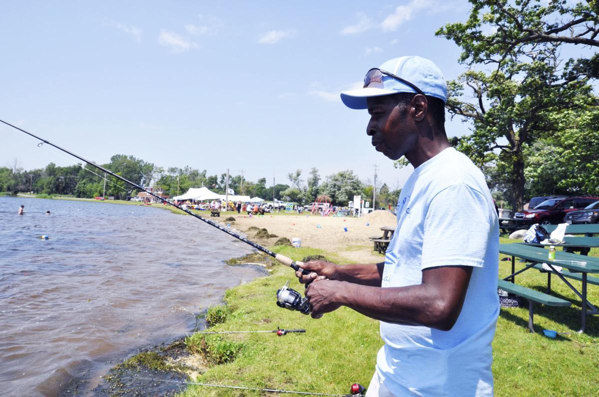 Fishing on Pell Lake at Lake Fest