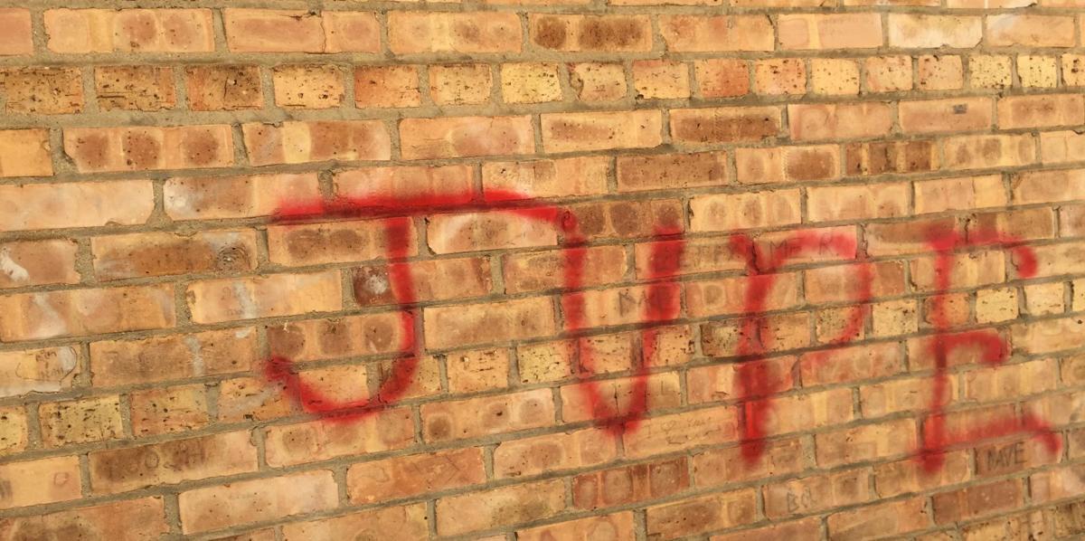 Anti-Semitic graffiti found on Racine synagogue, Jude