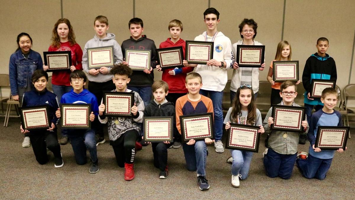 LGMS spelling bee competitors 2019