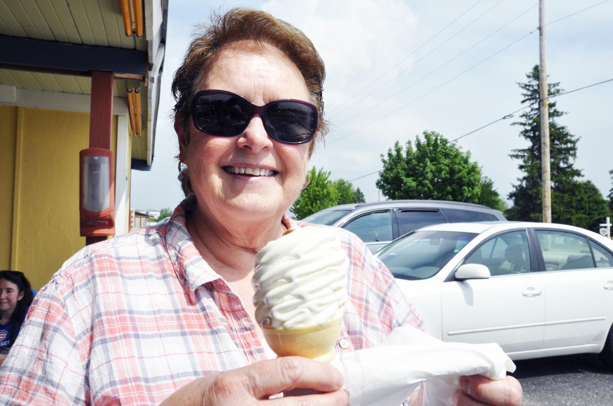 Judy Trautman of Lake Geneva with ice cream cone