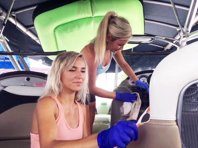 Barnacle Babes boat cleaning business