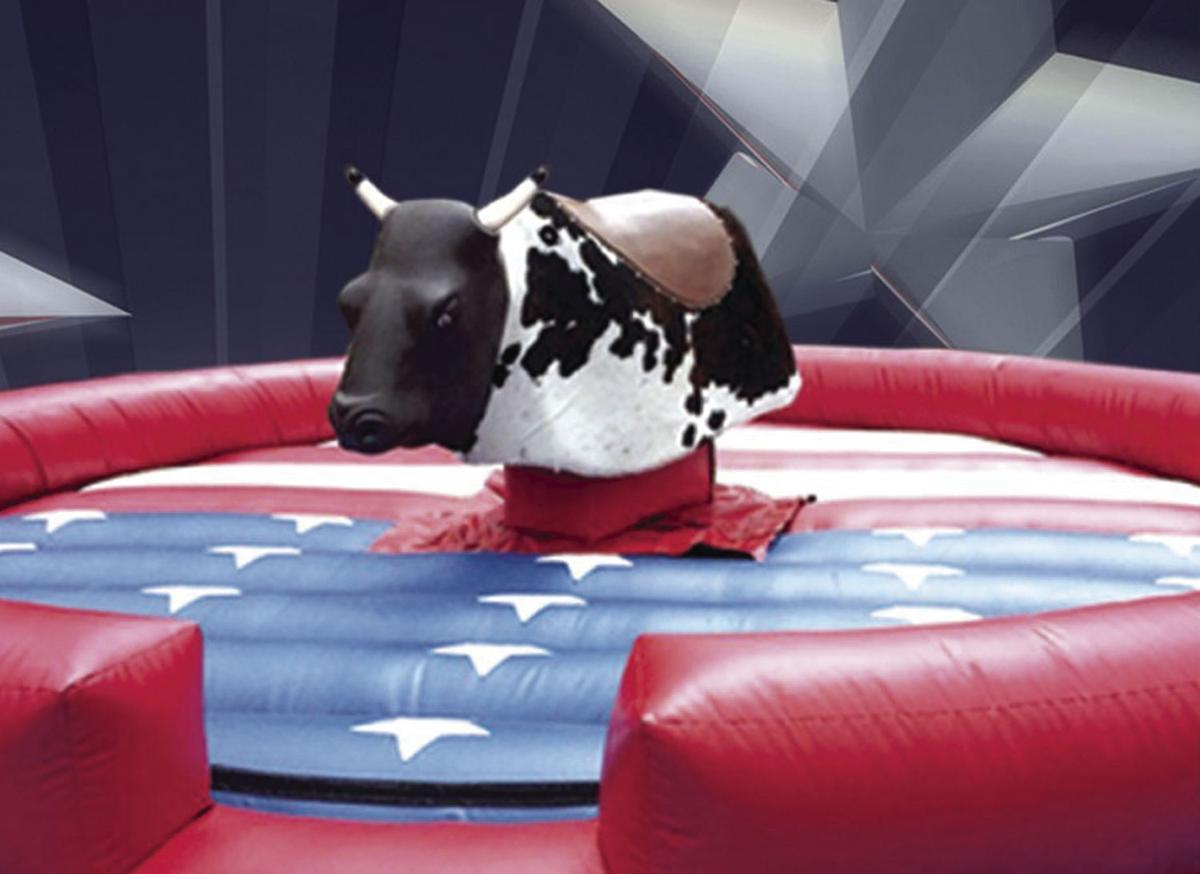 Mechanical bull at Taco Fest