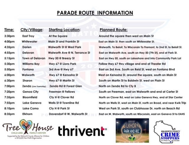 Parade route National Night Out