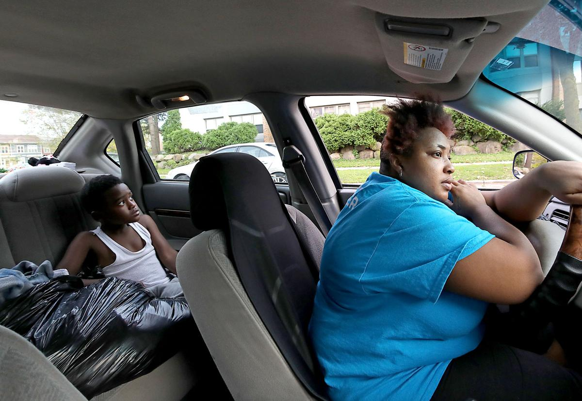 Homeless family in vehicle