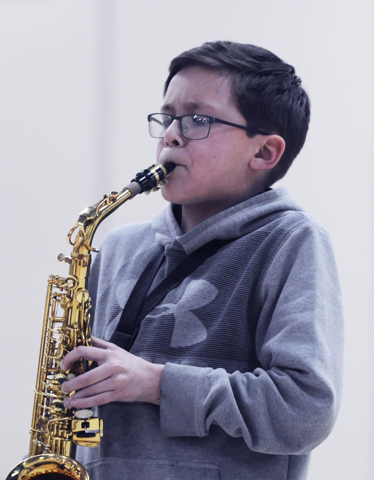 Jacob Olson sax player Brookwood Middle School