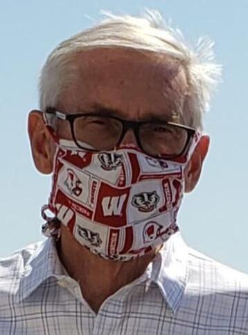 Tony Evers in a mask headshot