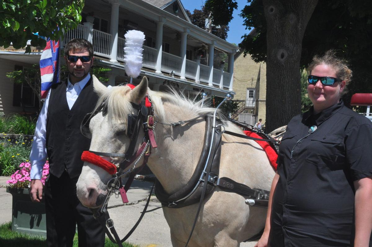 Brother-and-sister team Richard Costa and Katherine Farli, along with their horse Rebox, offer