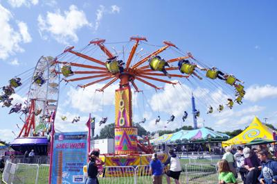 Fair rides, one of the favorite attractions of the Walworth County Fair