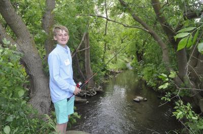 Matthew Sexton fishing at new park