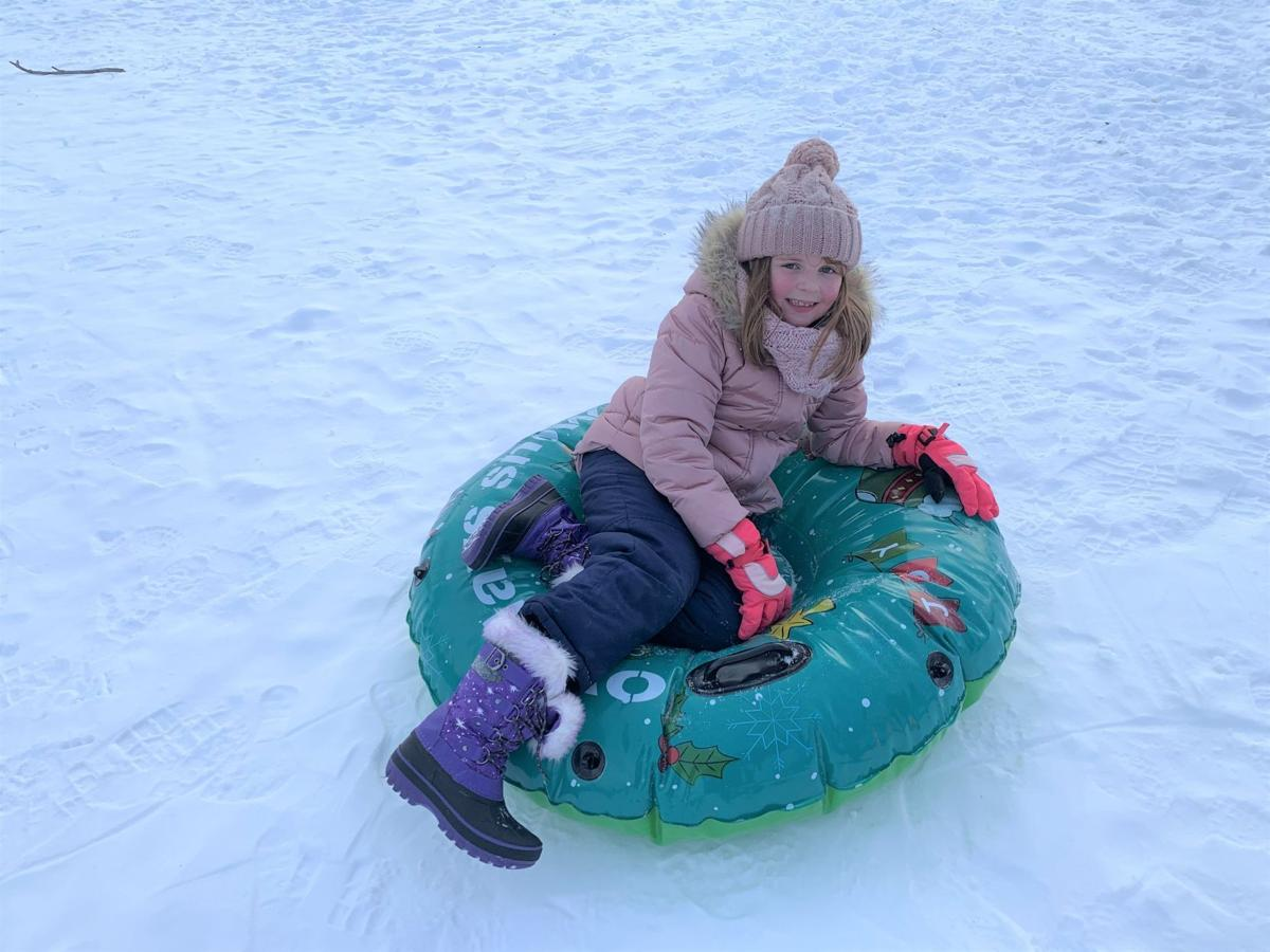 Sledding hill by Sage and Mill Streets