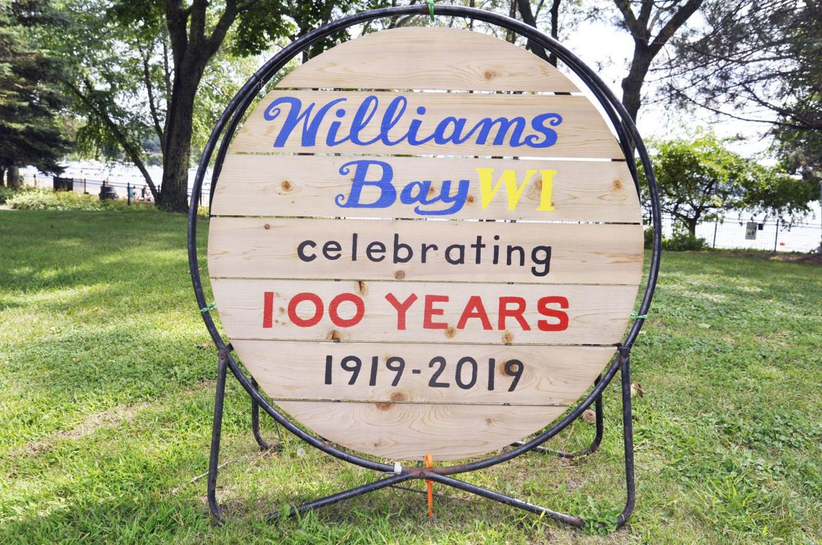 Williams Bay centennial sign