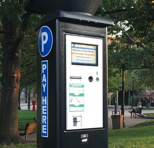 The city of Lake Geneva is looking to install a touch-screen parking kiosk similar to one shown here
