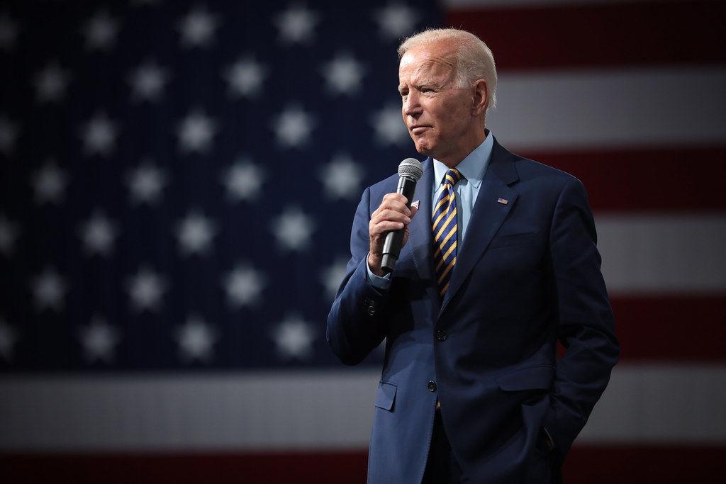 Joe Biden free stock image with flag