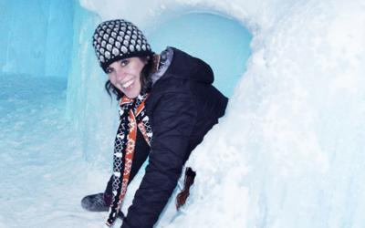 ice castle woman file photo