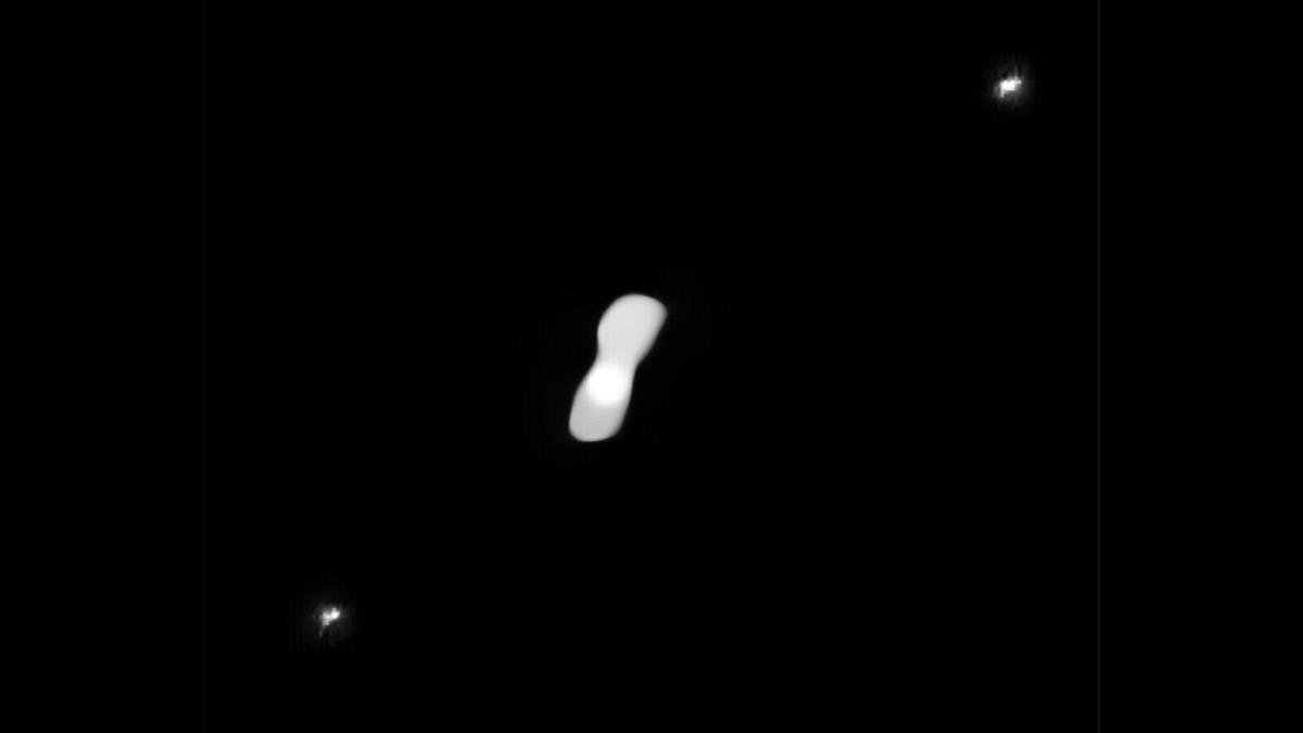 'Dog bone' asteroid spied by astronomers in new photos